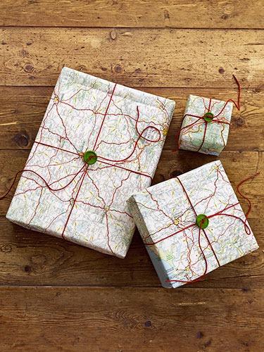 pacchetto regalo cartina stradale