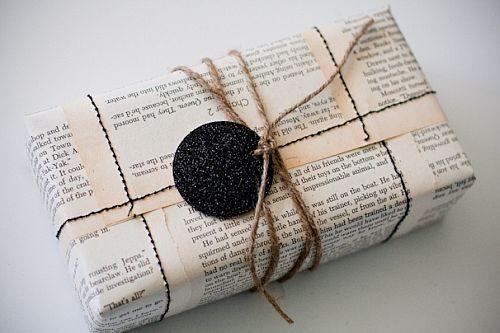pacchetto regalo giornale