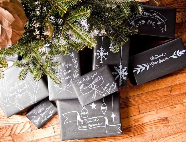 pacchetto regalo lavagna