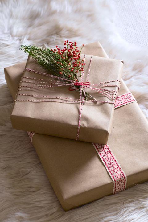 pacchetto regalo rustico