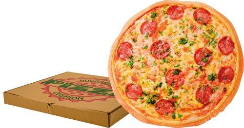 cuscino a forma di pizza