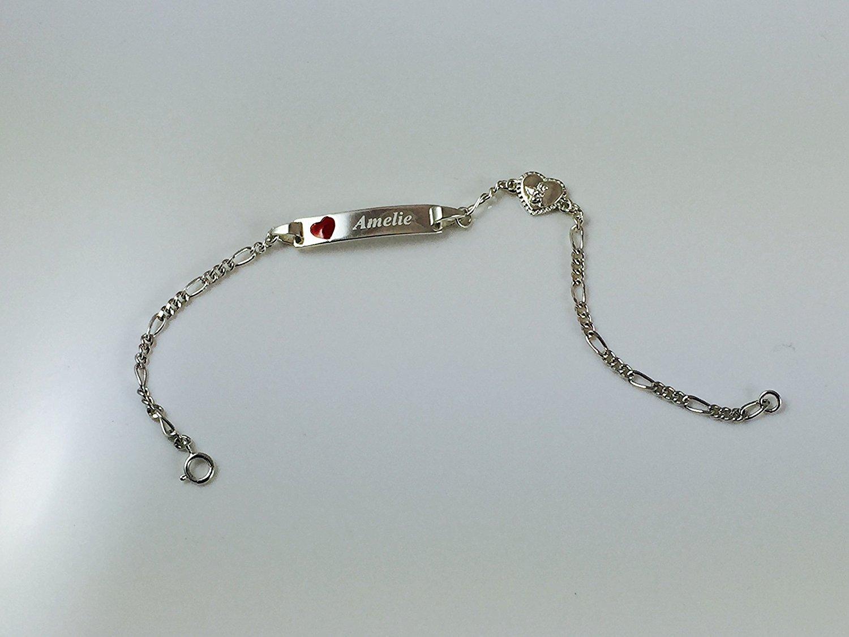 braccialetto personalizzato idea regalo per battesimo bambina