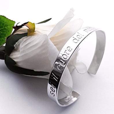 braccialetto personalizzato in argento