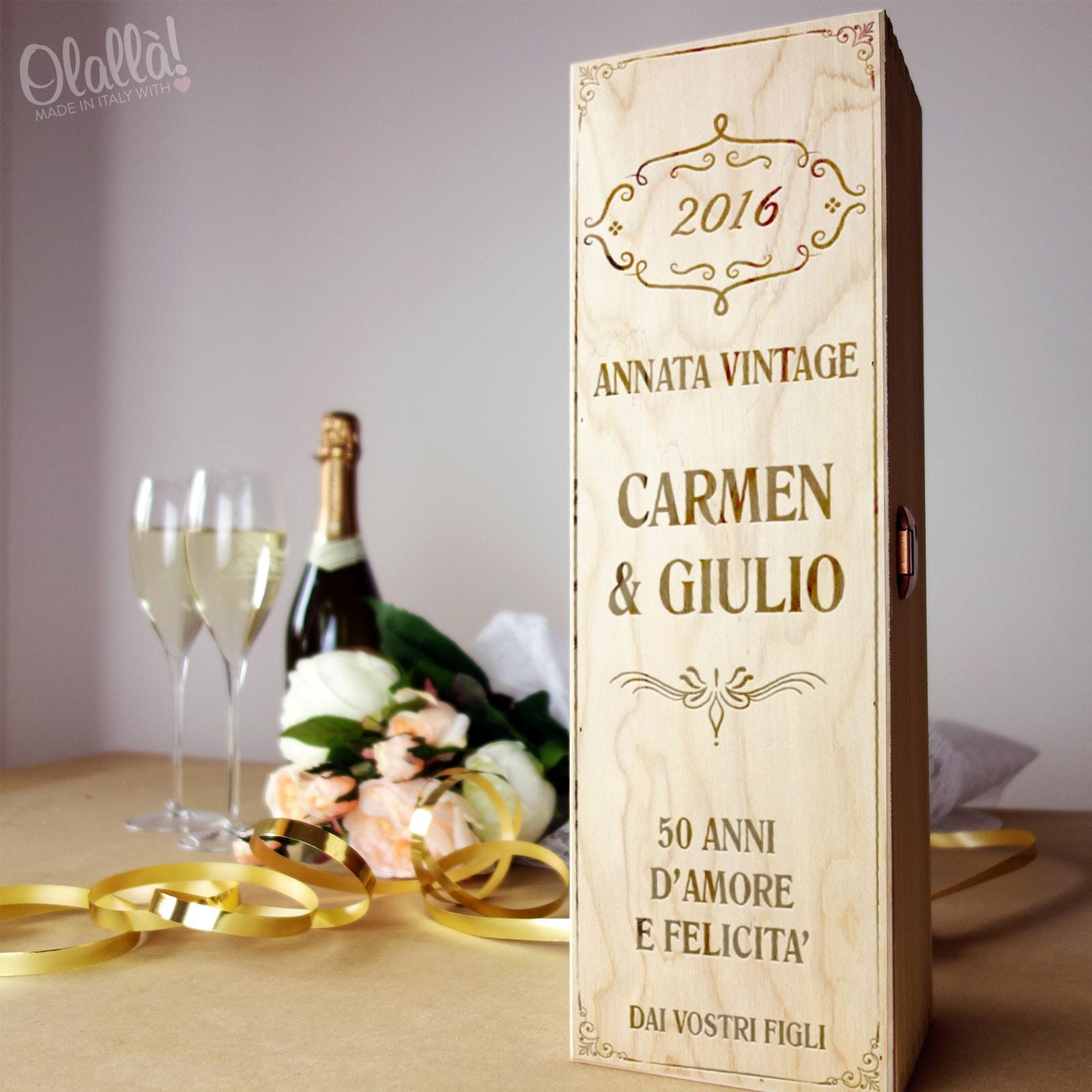 cassettina porta vino personalizzata