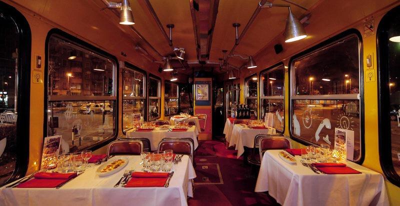 cena sul tram