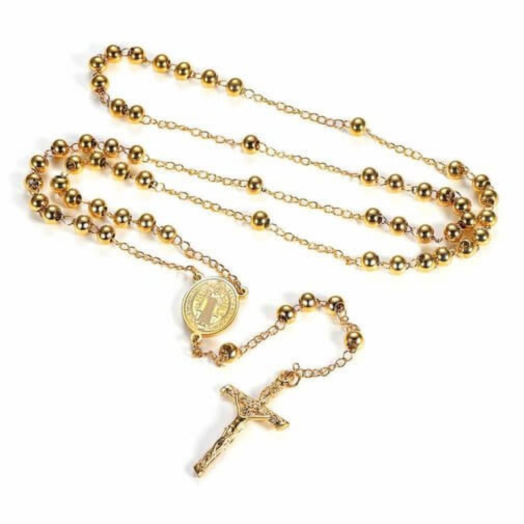 collana con rosario idea regalo prima comunione