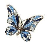 Spilla farfalla blu smaltata ottone...