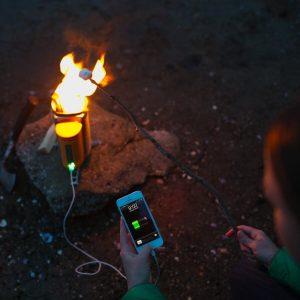 fornello caricabatterie da campeggio