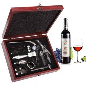 set apribottiglie per vino