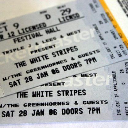 biglietto per concerto o evento