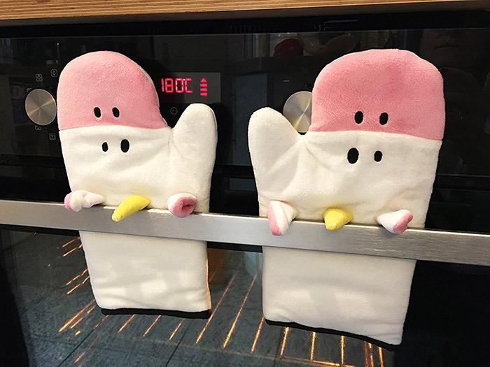 guanti da forno unicorno
