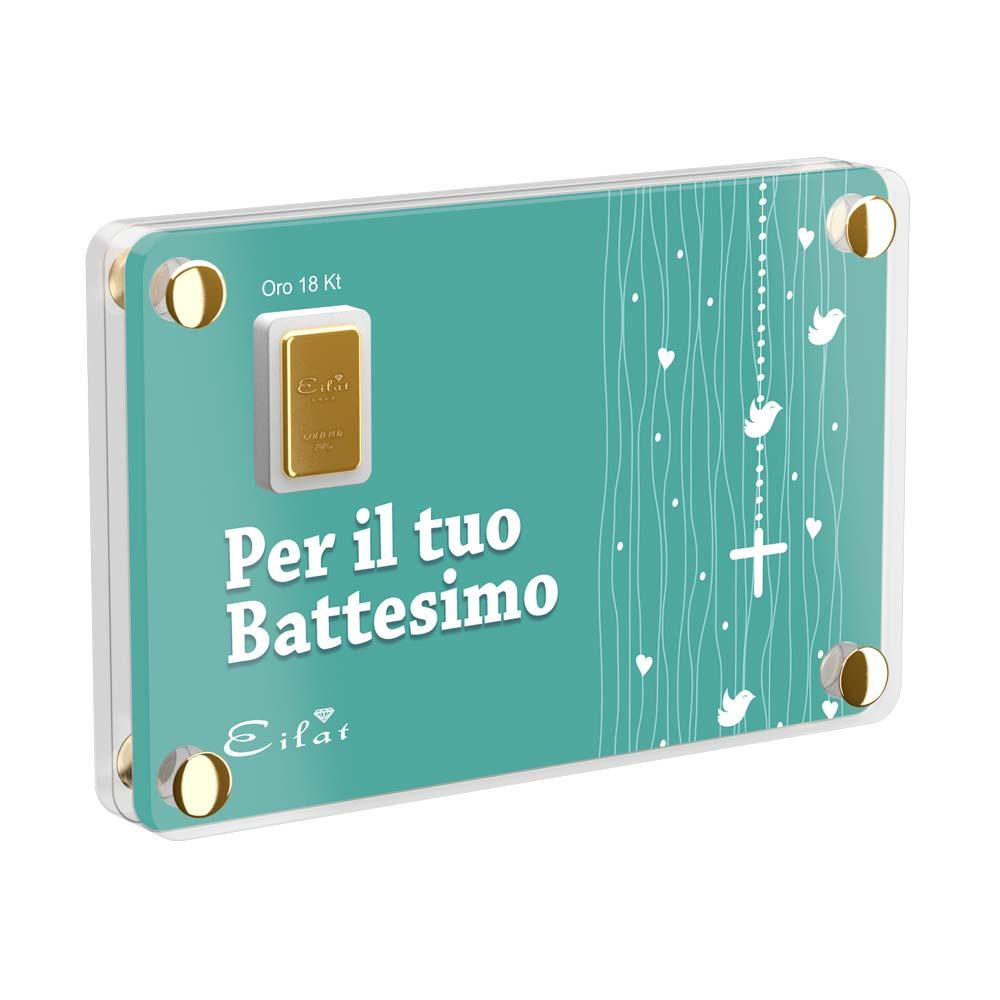 lingottino d'oro idea regalo battesimo