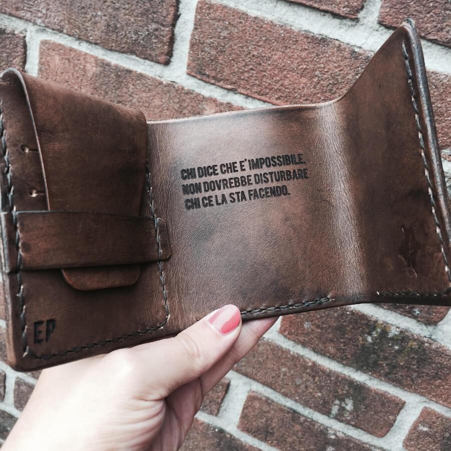 portafoglio uomo personalizzabile