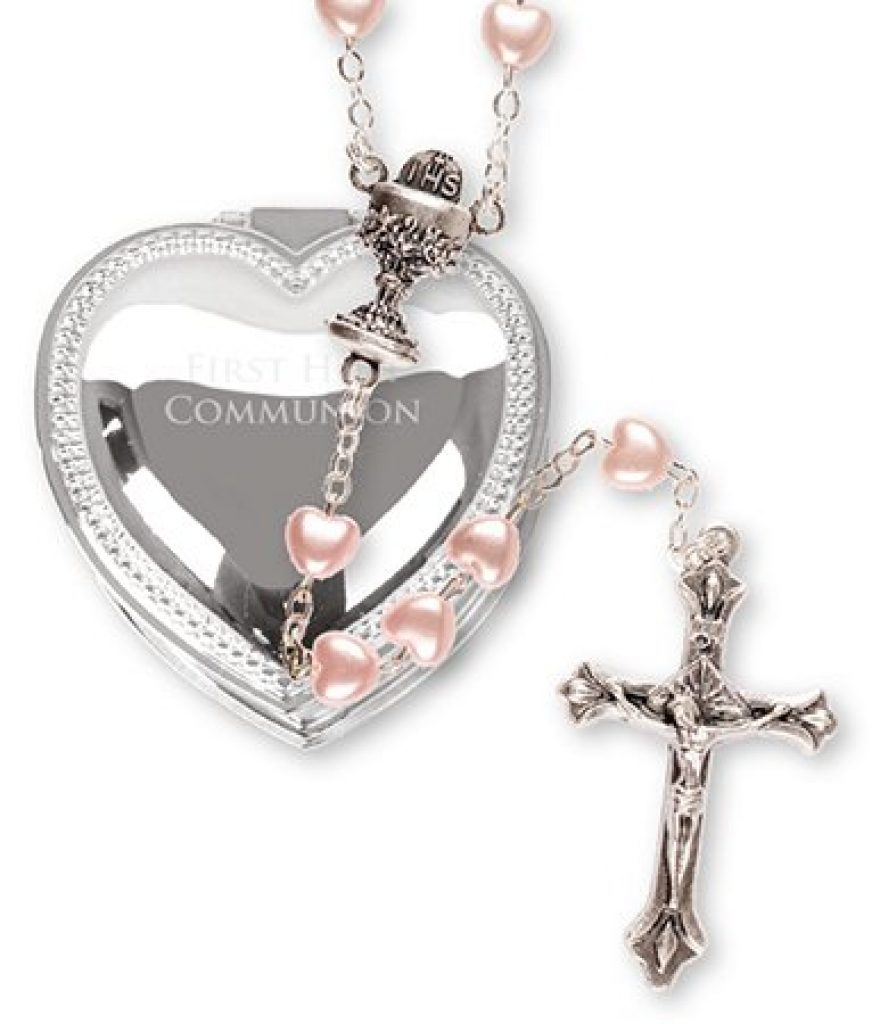 cofanetto cuore rosario regalo prima comunione